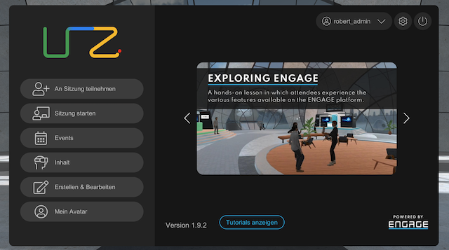 Account in der VR Plattform